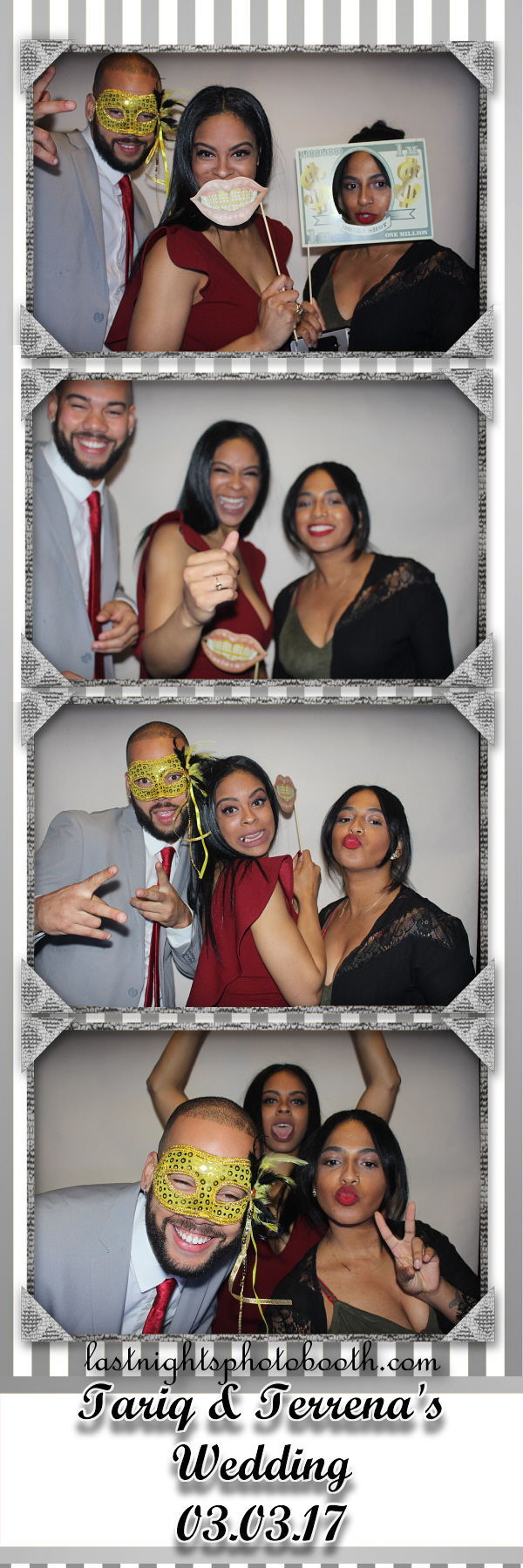 Photo Booth Rental for Tariq and Terrenas Wedding 2017