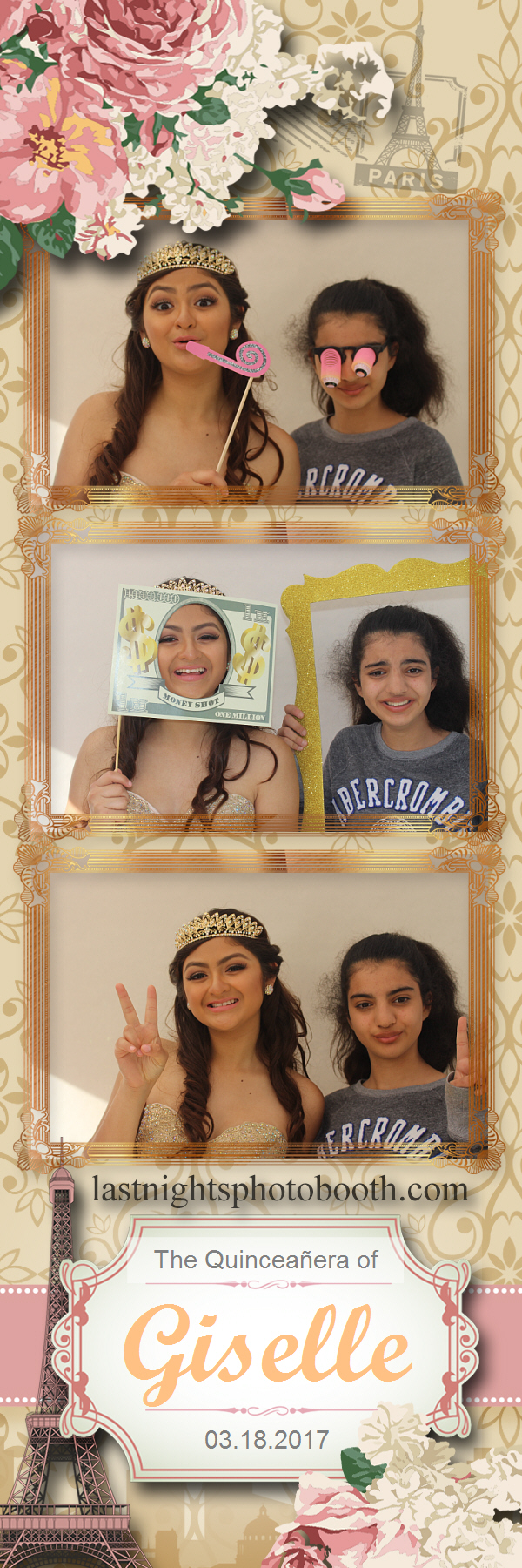 Photo Booth Rental for the quinceanera of Giselle_07