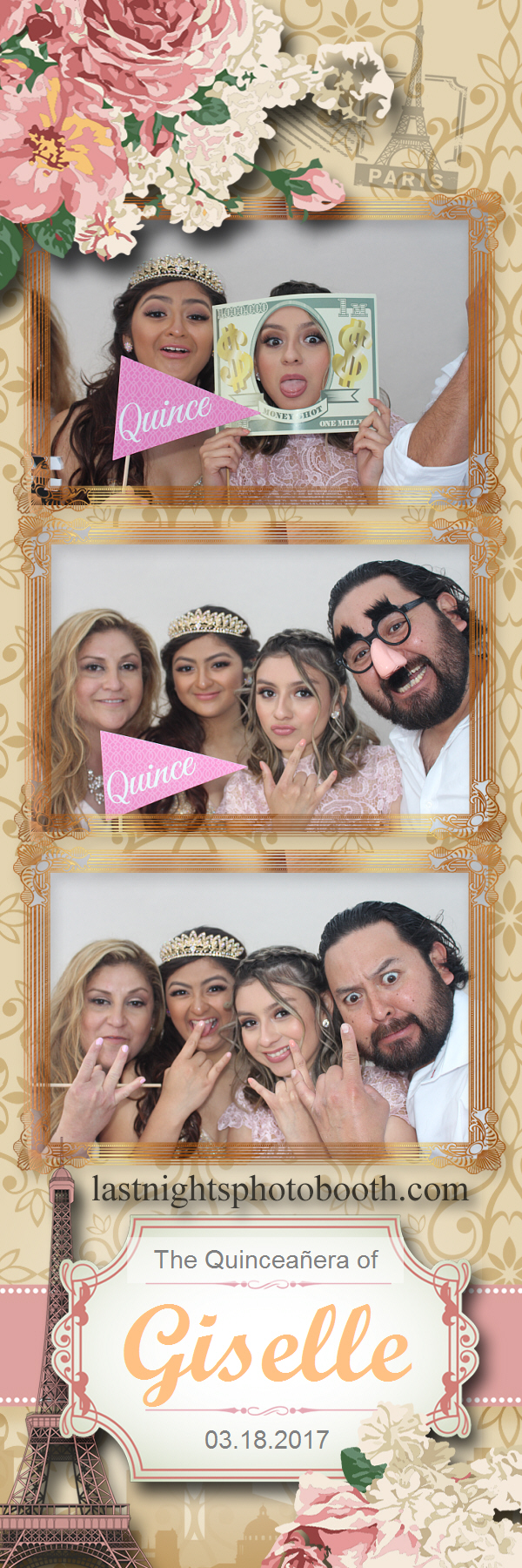 Photo Booth Rental for the quinceanera of Giselle_62