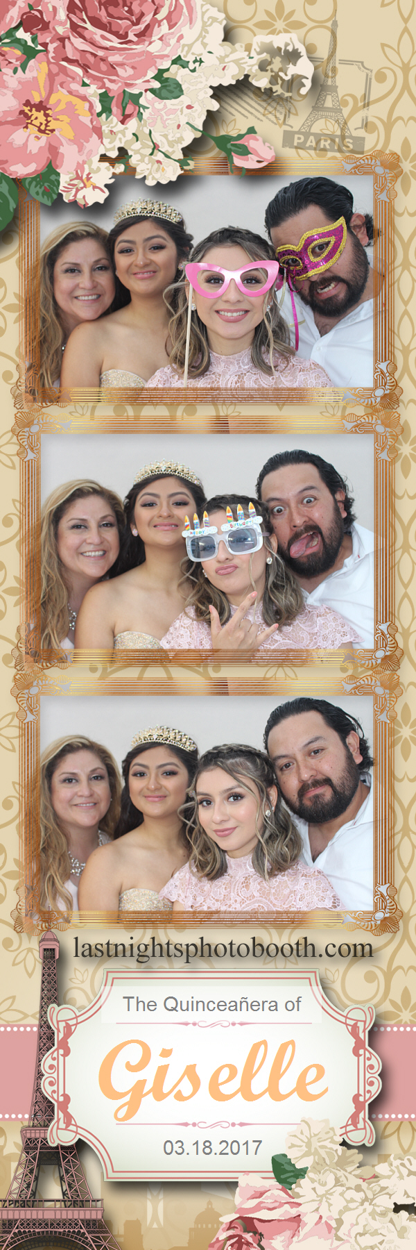 Photo Booth Rental for the quinceanera of Giselle_63
